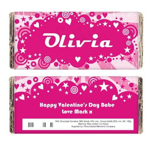 Personalised Retro Chocolate Bar